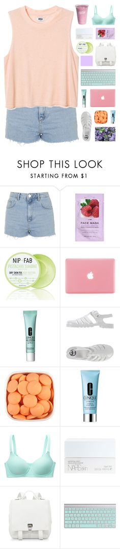 """nobody's ever gonna lead me to the truth"" by moonlightxbby ❤ liked on Polyvore featuring Topshop, H&M, Nip+Fab, Clinique, JuJu, Uniqlo, NARS Cosmetics and Proenza Schouler"