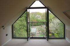 Glass in gable end