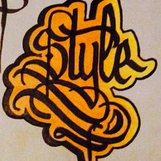 Style! Lettering Brain Tattoo, Calligraphy, Ink, Lettering, Design, Style, Swag, Drawing Letters
