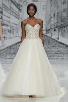 5dd4644aa0 Justin Alexander Signature Spring Barcelona Bridal Week Runway Presentation  (in photo  strapless sweetheart beaded bodice ball gown wedding dress mv)