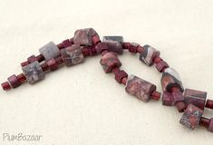 Items similar to Smooth matte stone and vintage ceramic beads, two 7 inch strands on Etsy Agate Beads, Ceramic Beads, Red Agate, Triangle Shape, Vintage Ceramic, Stone Beads, Strands, Black And Grey, Smooth