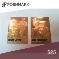 DEREK JETER/ALEX RODRIGUEZ 2004 DUAL SIGNED card A BEAUTIFUL Derek Jeter/Alex Rodriguez 2004 Merrick Mint 23KT Gold! This is a Dual Flip Card with Jeter and Arods black laser facsimile signature on each side! This card is a great investment and if you are a BASEBALL/YANKEE FAN you will love this card! merrick mint Other