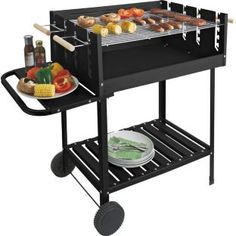 Deluxe Rectangle Steel Party Charcoal Bbq At Argos