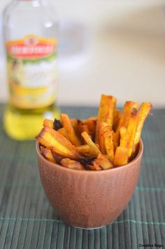 Though I have tried better and interesting ways to consume sweet potatoes,especially by my kids, it really has not tempted us enough to make this in a regular basis. Years back , a friend had told me that sweet potatoes are really good for kids, like all moms, I am obsessed about feeding them to my kids. I buy them quite often. It lies in the refrigerator couple of days begging to be used and finally they get a chance. But this time , when I made this baked fries, it was enjoyed by us and…