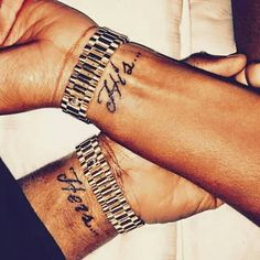 Husband and wife matching tattoos