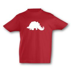 Kinder T-Shirt Stegosaurus Dino. T-Shirt Stegosaurus Dino, kurze Arme, Flexdruck