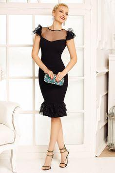 Peplum Dress, Crochet, Cocktail, Black, Dresses, Fashion, Elegance Fashion, Style, Dress
