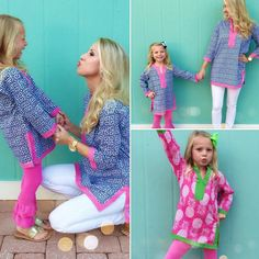 Mommy & Me Tunics by Malabar Bay