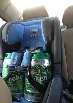 So I caught my husband going to his buddies...his method of beer transport!