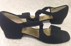 Bruno Magli Black Spandex Form Fitting Heels Italy Size 9.5 AA