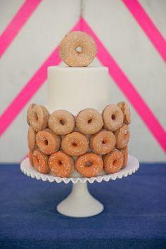 Doughnut Cake / Ace Hotel Pool Party Reception by Jesi Haack Design