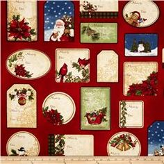 Holly Jolly Christmas 2 Labels Holiday