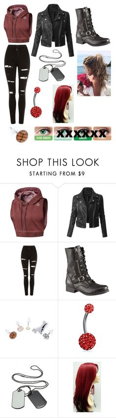 """Amber Ayuna"" by skylerphoenix on Polyvore featuring Reebok, LE3NO, Topshop, ALDO, Fit-to-Kill and Bling Jewelry"