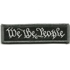 KM Outfitters® We The People Morale - Black & White - Patch KM Outfitters® http://www.amazon.com/dp/B00GURZ8Y0/ref=cm_sw_r_pi_dp_Sswvub1RJ6CKF