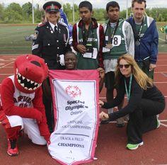 #SchoolChamps with Toronto #Raptors mascot!