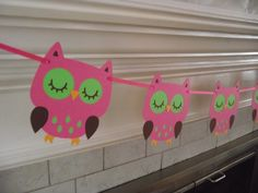 Owl garland/bunting/banner nursery by CreativePartyBanners on Etsy Owl Themed Parties, Owl Parties, Owl Birthday Parties, Girl Birthday, Birthday Ideas, Owl Themed Nursery, Nursery Decor, Owl Decorations, Baby Shower Decorations