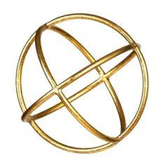 Matte Gold Sphere   Kirklands