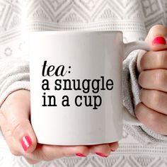 Coffee Mug - Ceramic Coffee Mug - Tea - Quote Mug- Tea Lover - Gift Idea - Tea Cup - Tea Time It's a want and need. Coffee Cups, Tea Cups, Tea Quotes, Life Quotes, My Cup Of Tea, Cute Mugs, High Tea, Chocolate, Afternoon Tea