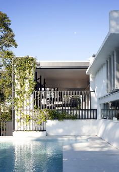 Chelmer Pool House Photography Jon Linkins Awards State Commendation for Residential Architecture, AIA. Outdoor Spaces, Indoor Outdoor, Outdoor Living, Swimming Pool Images, Swimming Pools, Residential Architecture, Modern Architecture, Villa, Queenslander