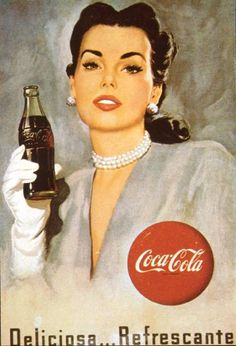 So verändern, sodass die Frau eine Schürze trägt und Gummi-Handschuhe --> Kloschüssel Vintage Coca Cola, Vintage Ads, Vintage Posters, Vintage Signs, Coca Cola Poster, Coca Cola Ad, Always Coca Cola, Pin Up Girl Vintage, Photo Vintage