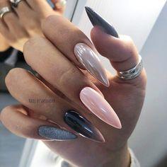Wedding Nails-A Guide To The Perfect Manicure – NaiLovely Nail Swag, Acrylic Nail Shapes, Acrylic Nails, Winter Nails, Spring Nails, Fancy Nails, Cute Nails, Hair And Nails, My Nails