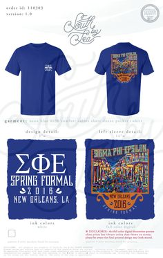 Sigma Phi Epsilon | Spring Formal | New Orleans Theme | South by Sea | Greek Tee Shirts | Greek Tank Tops | Custom Apparel Design | Custom Greek Apparel | Fraternity Tee Shirts | Fraternity Tanks | Fraternity Shirt Designs Custom Clothing Design, Custom Clothes, Sorority Shirts, Fraternity Rush Shirts, University Tees, Custom Greek Apparel, Greek Clothing, Comfort Colors, Cool Shirts
