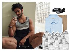 """x emilio x"" by cactibcbies ❤ liked on Polyvore featuring Joseph, Burberry, men's fashion and menswear"