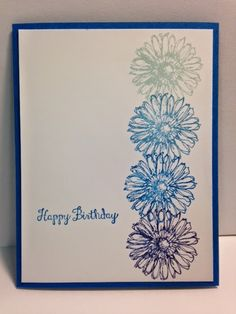 Bloom with Hope, Ombre Technique, Birthday Card, Stampin' Up!, Handmade Cards