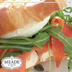 Visit Meade Cafe for the most delicious meals and snacks. Not only delectable, but we have loads of healthy, but tasty options as well. Delicious Meals, Yummy Food, Snack Recipes, Snacks, Salmon Burgers, Sandwiches, Tasty, Wellness, Lunch