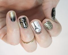 67 images about MakeUp & Nails on We Heart It See more about nail stamping moyou london - Nail Stamping Paris Nail Art, Paris Nails, London Nails, Great Nails, Perfect Nails, Cool Nail Art, Love Nails, Stamping Nail Art, Stamping Plates