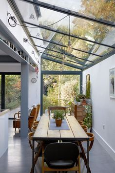 Be inspired by these beautiful modern lighting ideas, as seen on the Livingetc House Tours Glass Roof Extension, House Extension Design, Extension Designs, House Design, Extension Ideas, Home Interior Design, Interior Architecture, London Architecture, Chinese Architecture