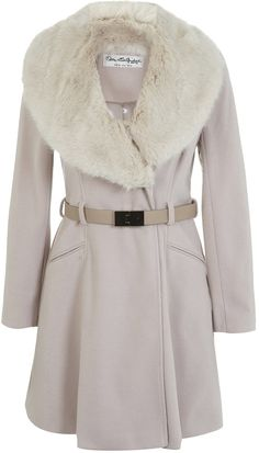 Womens cream coat from Miss Selfridge - £80.10 at ClothingByColour.com