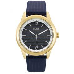 8017f3ab62b Informações do produto  O relógio feminino mix de materiais Euro é da  coleção Texturas.
