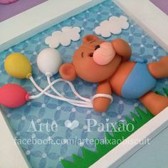 Diy Clay, Clay Crafts, Diy And Crafts, Crafts For Kids, Arts And Crafts, Clay Projects, Projects To Try, Clay Bear, Cake Decorating With Fondant