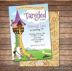 Invitación de cumpleaños de enredados / Tangled por thepartystork