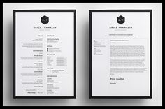 Introducing 'Brice', a simple, vertical design which includes a single page Resume/CV and Cover Letter.