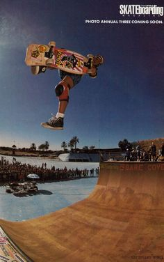 Classic shot of Hosoi - Transworld skateboarding photo annual - 1987 - Hosoi
