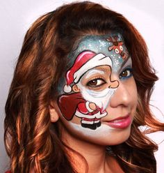 A face painting competition for christmas face painting designs, hosted by Illusion magazine and illusion face paint store Face Painting Images, Adult Face Painting, Face Painting Designs, Woman Painting, Painting For Kids, Body Painting, Skeleton Face Paint, Christmas Face Painting, Christmas Makeup Look