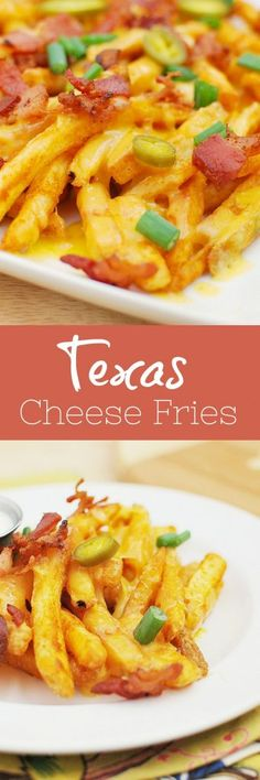 Texas Cheese Fries - Fake Ginger Healthy Appetizers, Appetizer Recipes, Healthy Snacks, Healthy Life, Hamburgers, Texas Cheese Fries, Seasoned Fries, Fries Recipe, Easy Smoothie Recipes