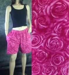 Vtg Roses Grunge Baggy Shorts #sixcatsfunVINTAGE #grunge #etsy #vintage #roses #baggy #baggyshorts #floralshorts