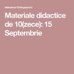 Materiale didactice de 10(zece): 15 Septembrie Blog, Blogging