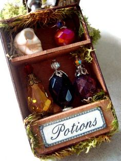 Wow, great idea. Clever using gems for potions.
