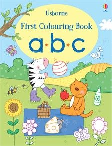 """""""First colouring book ABC"""" at Usborne Books at Home Organisers Coloring Books, Colouring, Alphabet Charts, Book Activities, Activity Books, Penguin Books, Abc News, Lower Case Letters, This Book"""