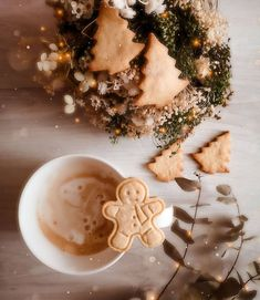 Christmas Tea, Xmas, Gingerbread Man Cookies, Cosy Winter, Winter Images, Christmas Aesthetic, Pretty Wallpapers, Hot Chocolate, Latte