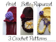 3 Patterns Ariel Belle Rapunzel Inspired 3 by SarahandJolie