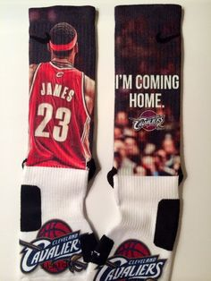 91ad00f9a Lebron I m Coming Home Custom Nike Elites by LeagueReady on Etsy