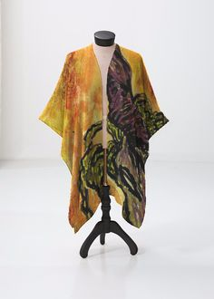 This sheer kimono-style wrap comes to the knee and drapes beautifully over a swimsuit or summer dress. Perfect for festivals or the beach. Korn, Kimono Top, Kimono Style, Kimono Fashion, Print Patterns, Summer Dresses, The Originals, Beach Artwork, Artist