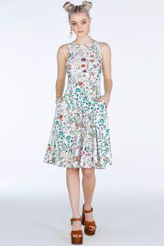 Jacobean Garden Princess Midi Dress - Limited - Sale
