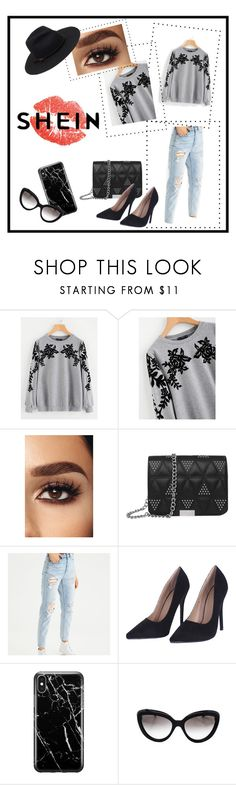 """""""shein"""" by akk07 ❤ liked on Polyvore featuring American Eagle Outfitters, Recover and Prada"""