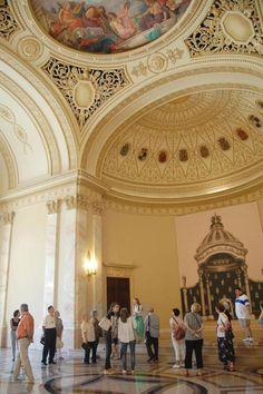 Muzeul National de Arta al Romaniei throne room Palatul Regal Bucuresti Royal Palace National Museum of Art Bucharest Romania romanians culture